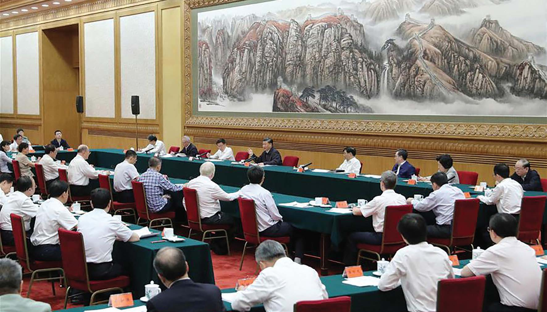 Chinese President Xi Jinping, chairs symposium attended by scientists in Beijing, capital of China, Sept. 11, 2020 (Yao Dawei / Xinhua).